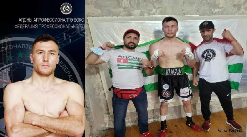 Abhaz Sporcu Enver Bzagua ringden zaferle ayrıldı.