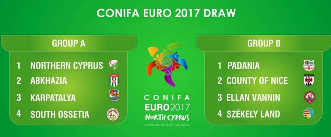 CONIFA EURO 2017 Grup karşılaşmaları programı belirlendi.