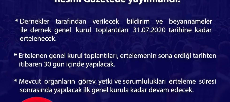 Türkiye Cumhuriyeti İçişleri Bakanlığı Sivil Toplumla İlişkiler Genel Müdürlüğü  Basın Açıklaması  (Dernek Beyanname ve Bildirimleri Hakkında)